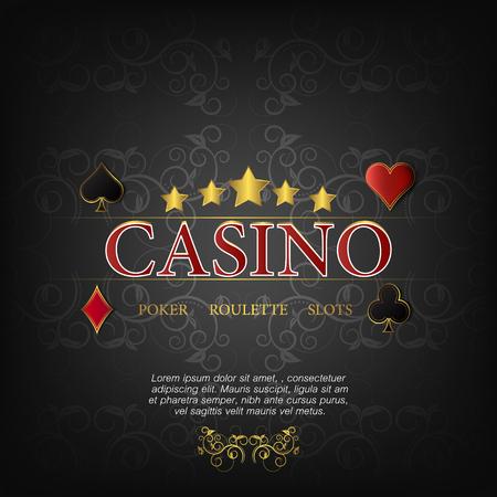 fond sombre: Casino illustration vectorielle pour poster sur un fond sombre