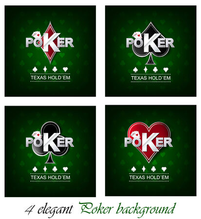 Set of poker vector background with card symbol, design for your poker tournament or poster