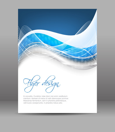 Business flyer template, vector brochure or cover design, can be used for print, publishing or presentation Illustration