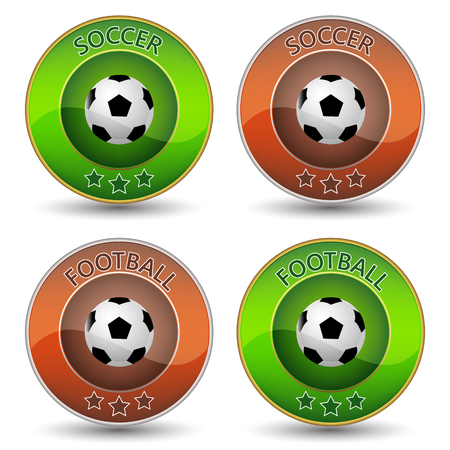 Soccer or football vector icon or badge with ball Vector