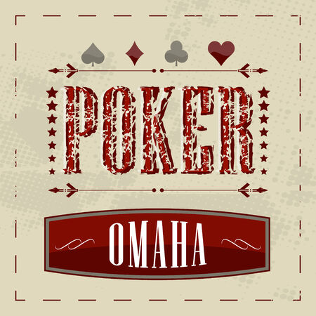 Omaha poker game retro background for vintage design Imagens - 34676448