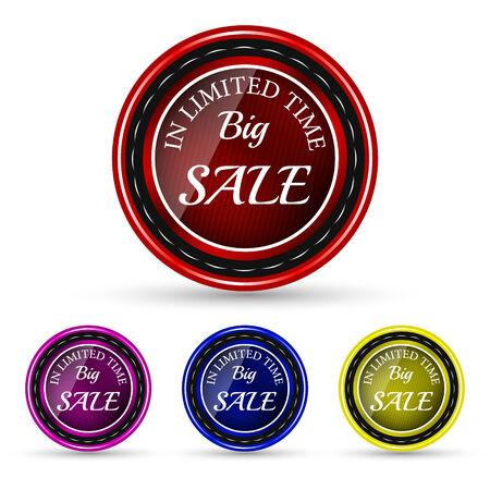 big sale: Big sale icon in different colors