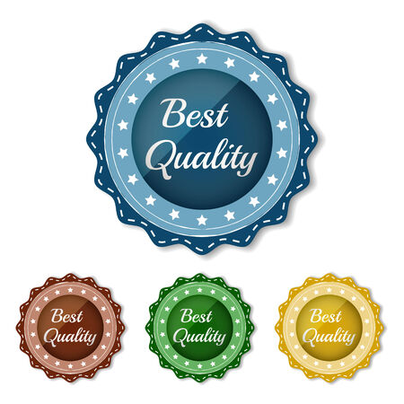 Best quality icon in different colors Vector