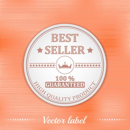 seller: Best seller guaranteed vector label or badge