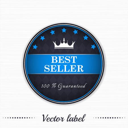 koninklijke kroon: Bestseller gegarandeerd vector label met koninklijke kroon