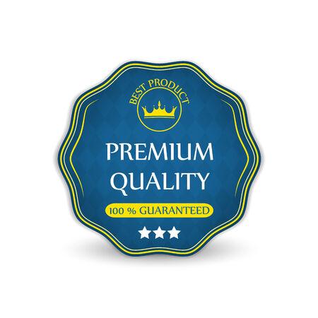 koninklijke kroon: Premium kwaliteit gegarandeerd vector label met koninklijke kroon Stock Illustratie