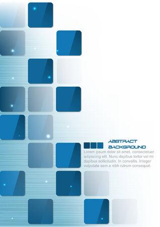 quadrati astratti: Blue Square sfondo astratto business