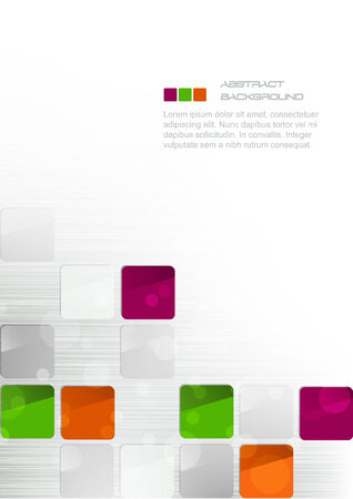 backdrop design: Abstract business background with colorful squares Illustration