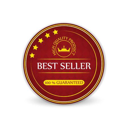 koninklijke kroon: Best seller guaranteed vector label with royal crown