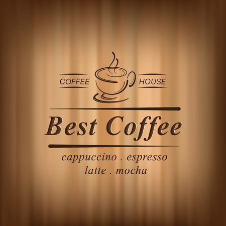 best coffee: Best coffee background with coffee cup, coffee house, vector illustration