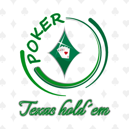 Texas holdem poker background with playing cards