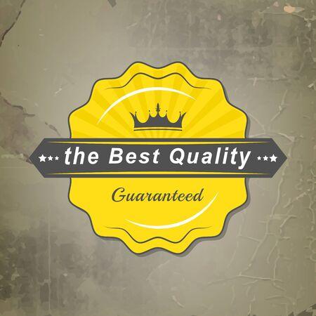 couronne royale: Meilleur vector label de qualit� avec la couronne royale et r�tro fond