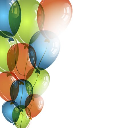 birthday wishes: Color balloons on white background for birthday wishes, vector illustration