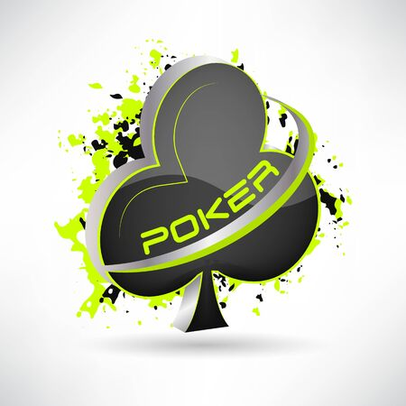 Poker vector illustration with grunge effect and card symbol, 3D design