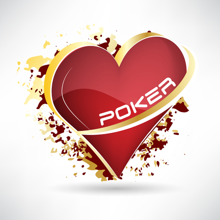 gamblers: Texas holdem poker, 3D vector illustration with card symbol