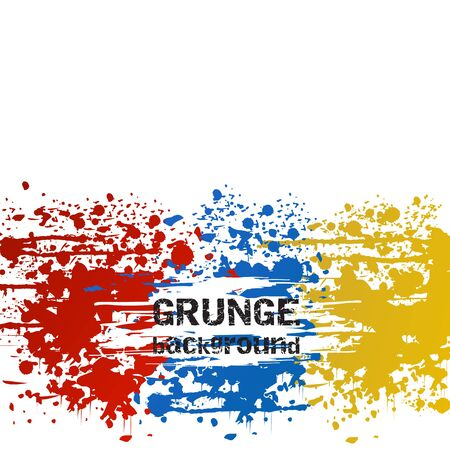 Abstract colorful grunge vector background
