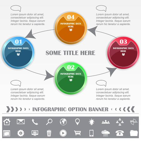 possibility: Infographic vector option banner with the possibility to insert different icons