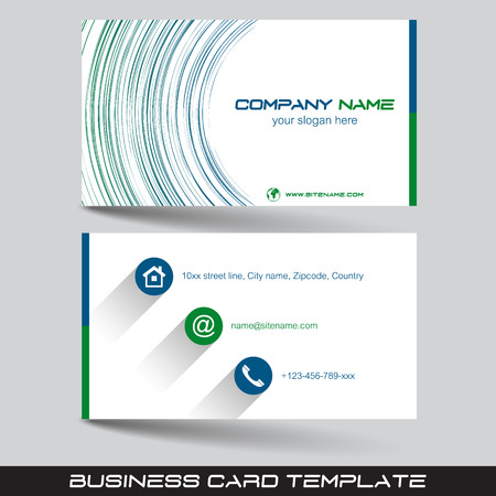Business card template or visiting card set vector illustration business card template or visiting card set vector illustration with front and back side colourmoves
