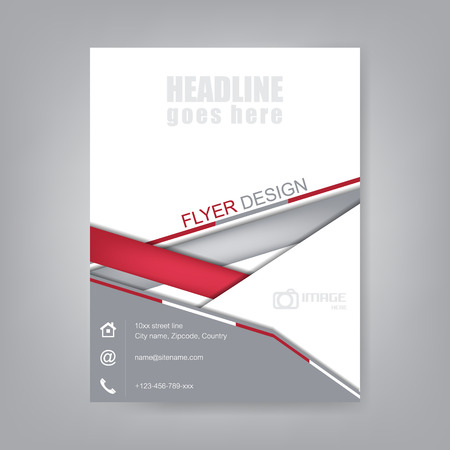 Business flyer, brochure template or corporate banner. Design for print, publishing or working presentation