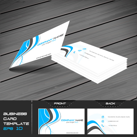 presentation card: Business card or visiting card template, vector illustration with front and back side