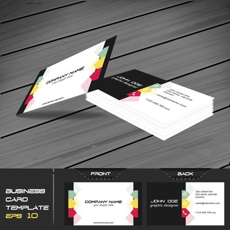buisness: Buisness card template, editable vector design with front and back side