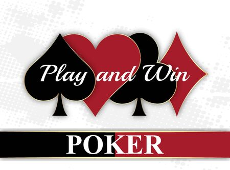 poker: Poker wallpeper with playing card symbol vector illustration