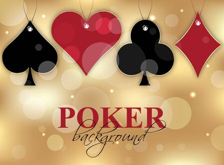 Poker wallpaper with card symbol on the glittering background vector illustration