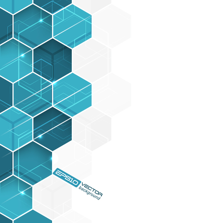 hexagonal pattern: Abstract background with blue hexagonal pattern  Illustration