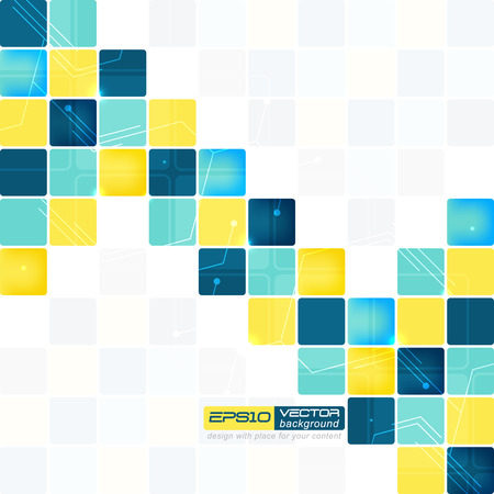 Abstract background with squares of different colors vector illustration