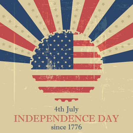 american history: Independence Day vector illustration in retro style Illustration