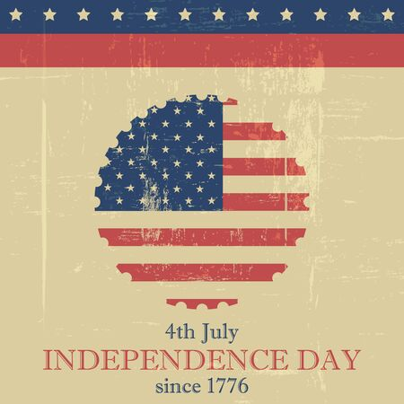 Independence Day vector background with usa flag in the middle Vector