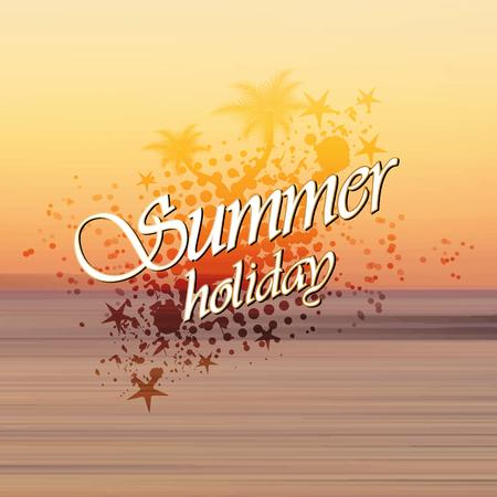 holiday background: Summer holiday background sunset on the beach