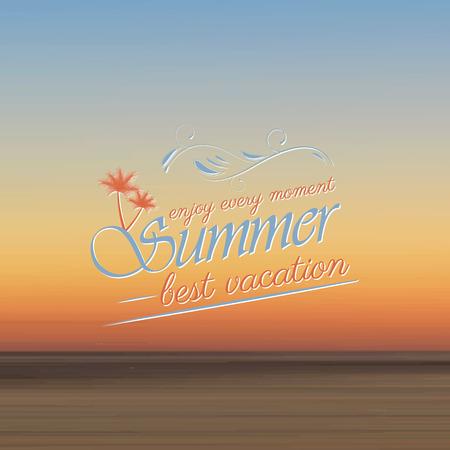 headline: Summer vacation best headline vector illustration Illustration