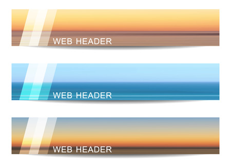 precise: Web header or banner with natural theme. Design with precise dimension. Illustration