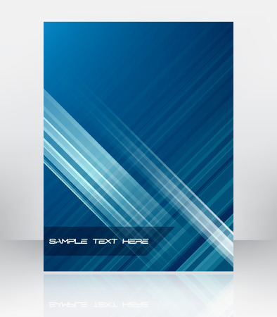 Abstract vector blue background for flyer or brochure cover design. Can be Used for presentation or print publishing.