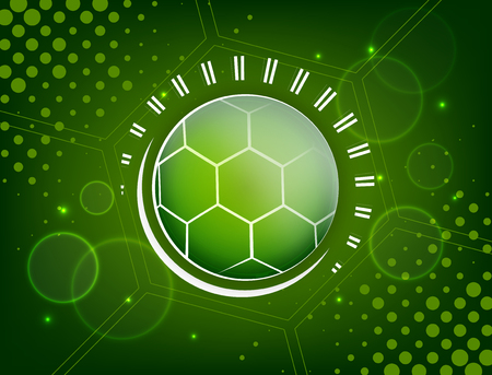 soccer background: Abstract soccer design with ball, glitter and halftone effect