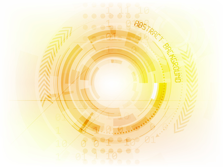 futuristic background: Abstract future technology vector background with circle elements and arrows