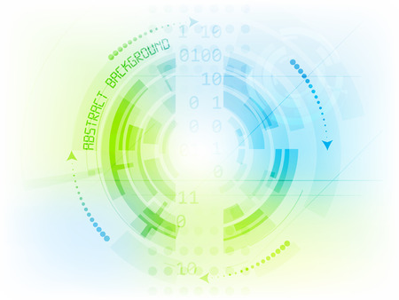 technical background: Abstract future technology vector background with circle elements and arrows