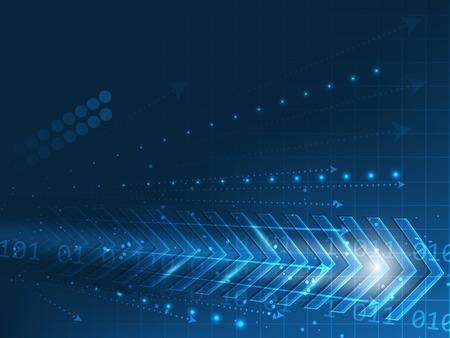 tecnologia informacion: Tecnolog�a vectorial resumen de antecedentes con flechas, n�meros y brillo