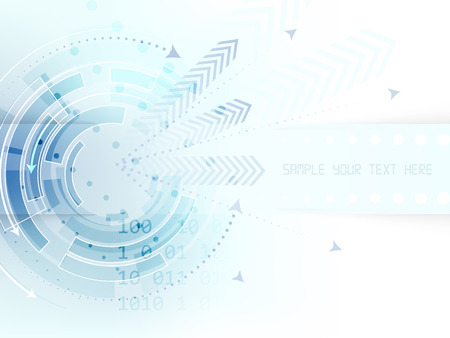 Technological circle with arrows on abstract vector background, design with place for your content