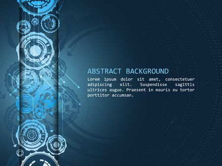 Abstract vector background with technological pattern. Design with place for your content or creative editing.