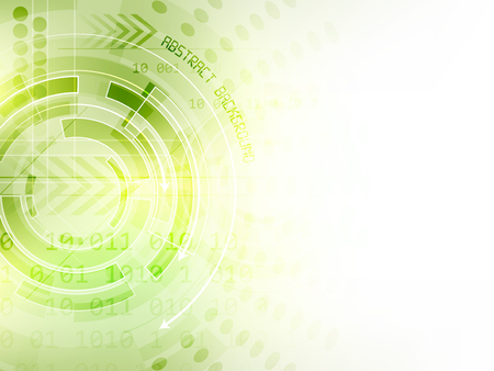 Abstract vector background, arrows, circuit board and other graphic elements, design with space for your text