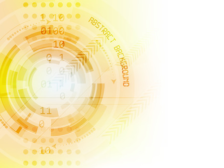 technical abstract: Abstract future technology vector background with circle elements and arrows
