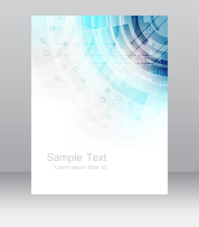 Plantilla de volante de negocio abstracta o banner corporativo. Diseño para la impresión, publicación o presentación, diseño vectorial editable con el lugar para su contenido o edición creativa.