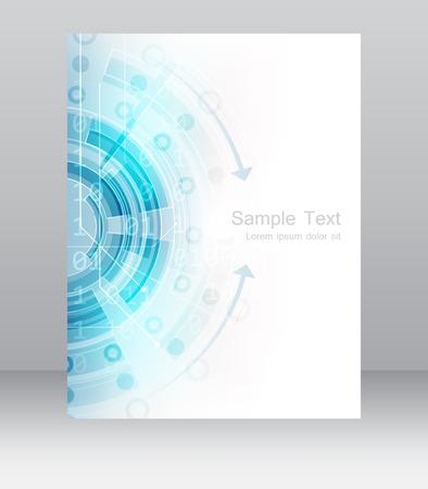Astratto modello di business volantino, brochure o un banner aziendale. Design per la stampa, l'editoria o la presentazione di lavoro, illustrazione vettoriale. Archivio Fotografico - 43142620