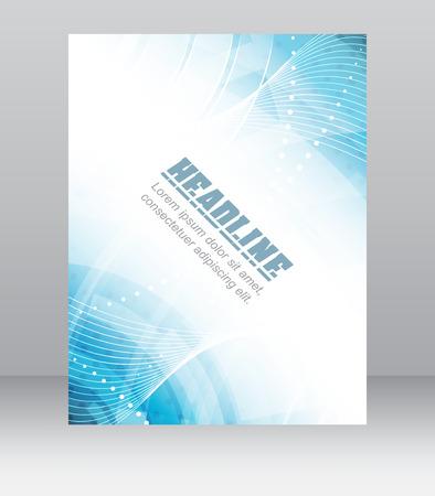 전단 또는 브로셔 템플릿, 기업 배너, 추상 파란색 기술 디자인, 벡터 일러스트 레이 션