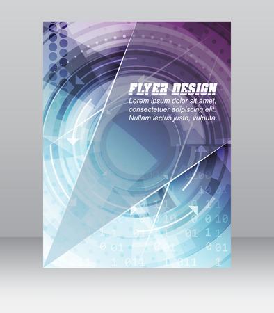 기술적 패턴, 잡지, 표지 디자인 또는 회사 배너와 함께 추상 비즈니스 전단 템플릿. 인쇄, 발표 또는 출판에 사용할 수 있습니다.
