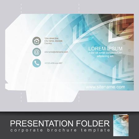 carpetas: Vector presentación plantilla de diseño de carpeta.