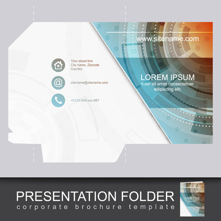 Vector presentation folder design template. Can be Used for business promotion or working.