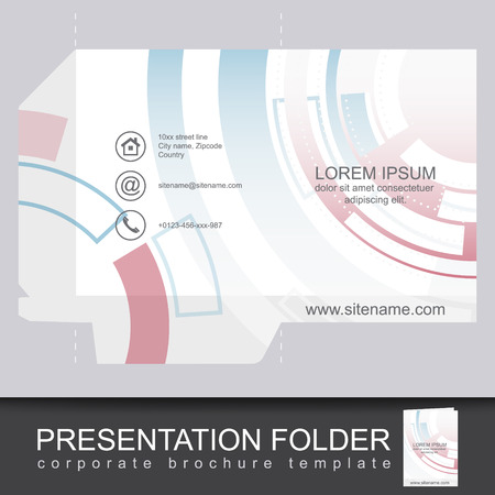 die cut: Abstract corporate folder with die cut, can be used for your business or working presentation. Vector illustration